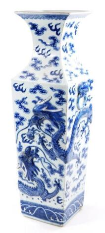 A Chinese blue and white porcelain floor standing vase