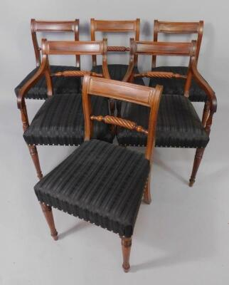 A set of nineteen early 19thC mahogany dining chairs