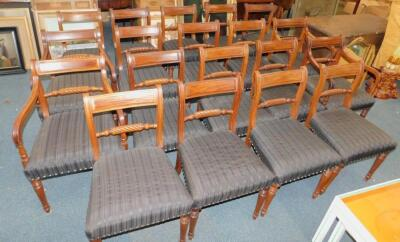 A set of nineteen early 19thC mahogany dining chairs - 2