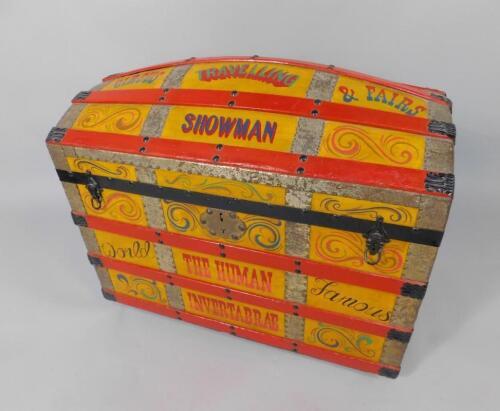 A Billy Baldwin Travelling Showman's trunk
