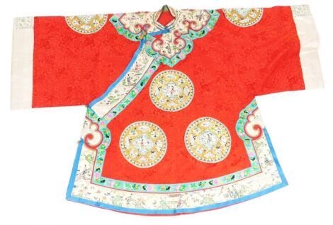 A Chinese silk ladies informal Jifu robe