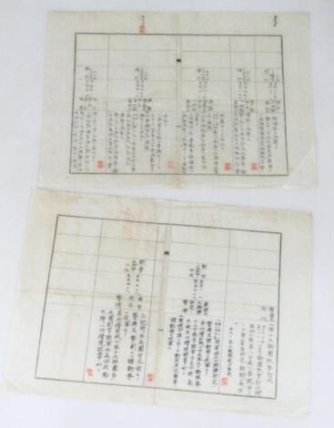 Two early 20thC Chinese documents
