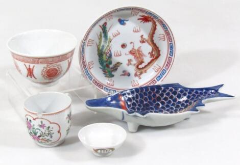 Various oriental pottery porcelain