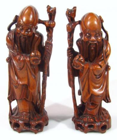 A Chinese carved wooden figure