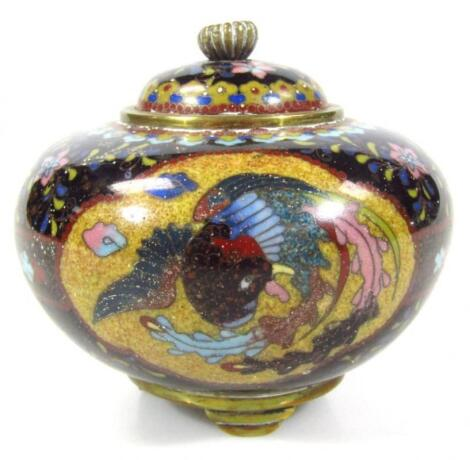 A 20thC Chinese cloisonné bowl and cover