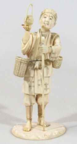 A Japanese Taisho period ivory figure