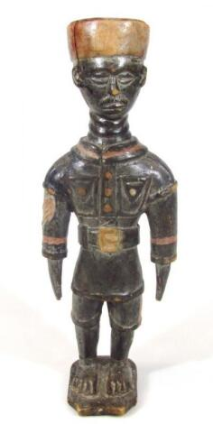 An African tribal Colonial figure group