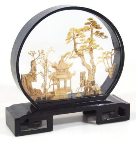 A 20thC cork diorama