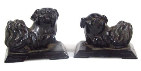 A pair of Chinese figures of Dogs of Fo