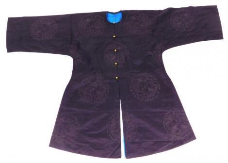 A Chinese Qing period silk Jifu robe