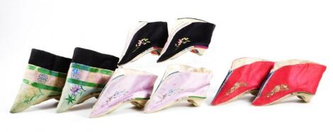 A pair of Eastern silk style shoes