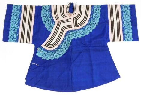 An early 20thC Chinese Qing period silk work jacket