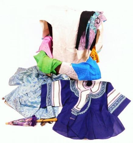 Various material silk work