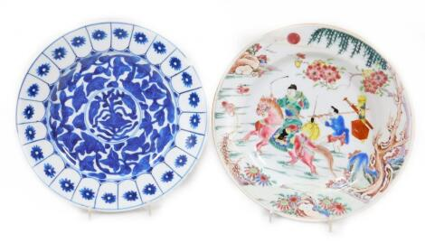 An 18thC Chinese plate