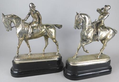 After John Willis Good (1845-1879). A pair of models of huntsmen on horseback
