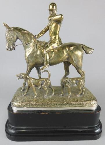 After John Willis Good (1845-1879). Huntsman on horseback with two hounds