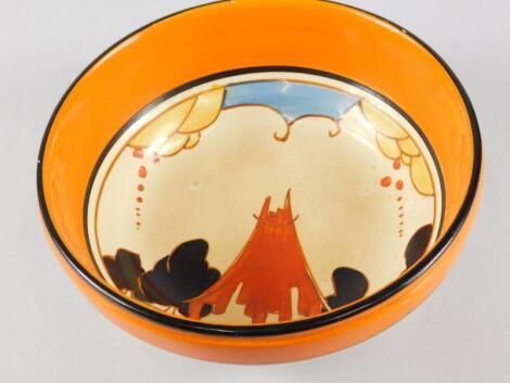 A Clarice Cliff Bizarre Fantasque bowl