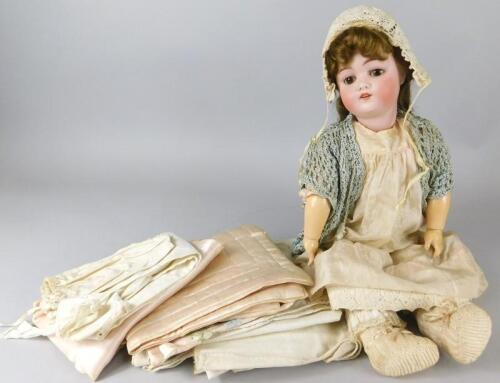 A German bisque headed doll