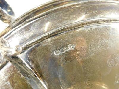 A George V silver three handled centrepiece - 3