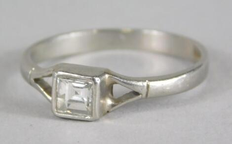 A platinum diamond set dress ring