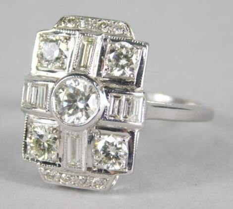 An Art Deco diamond dress ring