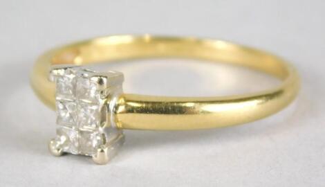 A diamond set dress ring