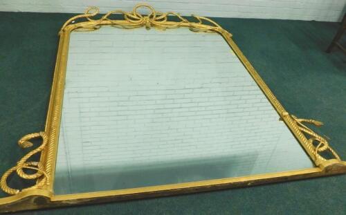 A Victorian gilt gesso overmantel mirror