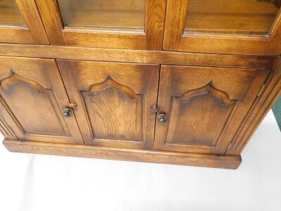 A distressed oak display cabinet - 2