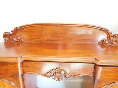 A Victorian mahogany pedestal sideboard - 2