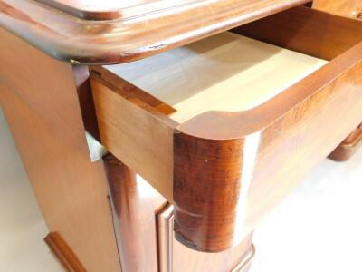 A Victorian mahogany pedestal sideboard - 3
