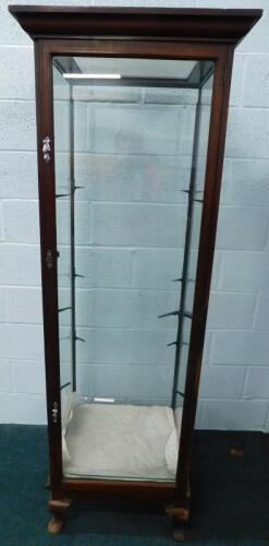 A late 19th/early 20thC mahogany shop display cabinet