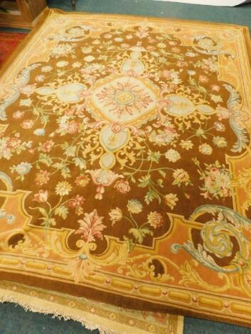 A 20thC Aubusson style wool carpet