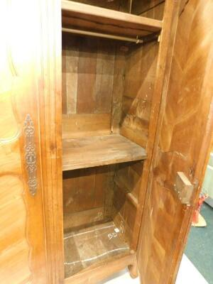 A 19thC French fruitwood armoire - 2