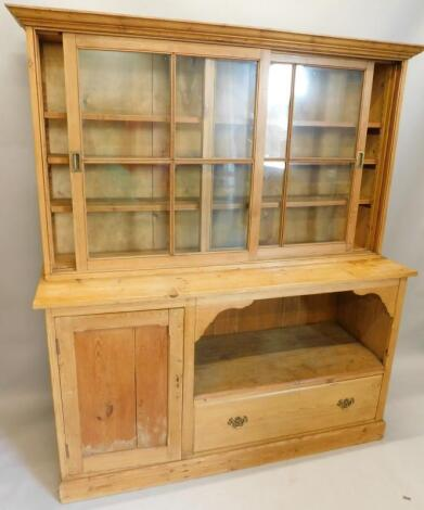 A reclaimed pine dresser