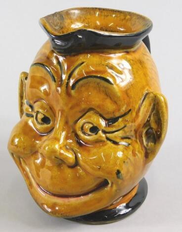 A late 19thC Continental Majolica monkey shaped jug
