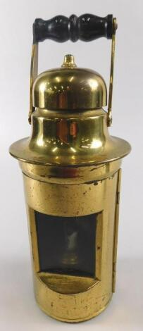 A late 19th/early 20thC brassed metal doctor's lamp
