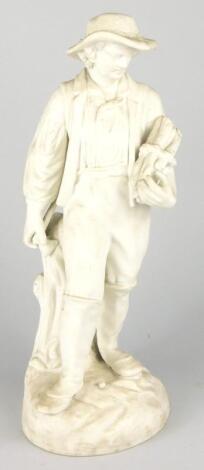 A 19thC Continental parian figure