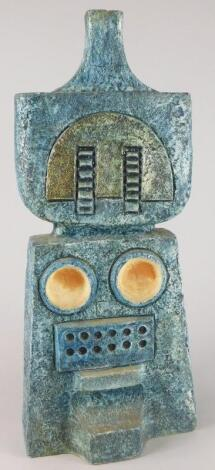 A Troika Studio Pottery double lamp base