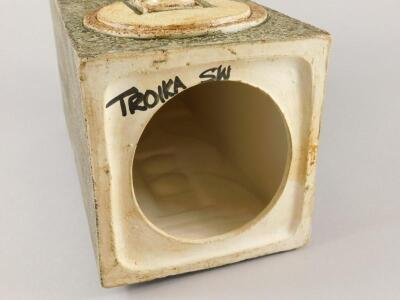A Troika square section lamp base - 4