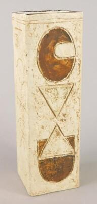 A Troika square section vase - 2