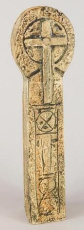 A Troika Celtic Cross vase