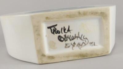 A Troika tin glazed flask - 3