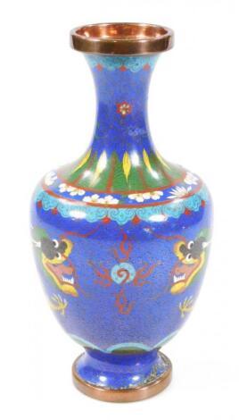 A 20thC cloisonne vase