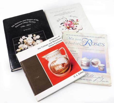 Four reference books relating to William Billingsley