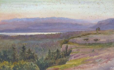 Charles Reginald Aston (1832-1908 RI & RA). Sunset Near Morecambe Bay