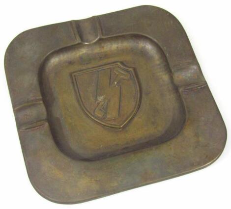 A Third Reich 12th SS Panzer Divison 'Hitler Jugend' ashtray