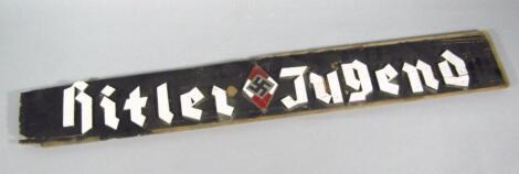 A Weimar Republic Third Reich Hitler Jugend plaque
