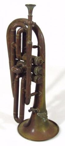A Weimar Republic/Third Reich brass Flugel horn
