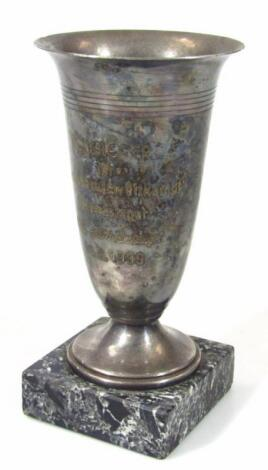 A Third Reich silver plate Reichsberufswettkampf Winners Pokal; From The 1939 Contest of Traders awa