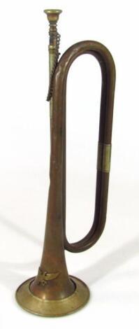 A Third Reich brass bugle